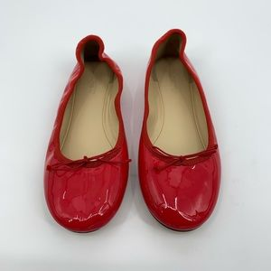 J. Crew NWT Red Patent Leather Ballet Fats